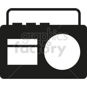 Radio Vector Icon Graphic Clipart 3 Clip Art Vector Icons Radio