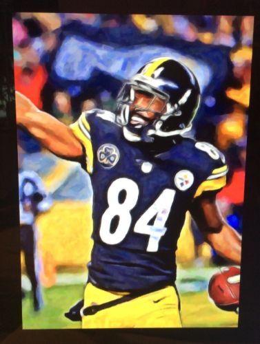 purchase cheap c5bf1 e27cd 2017-Antonio-Brown-Art-Card-49-Steelers-ACEO | Grid Iron Art ...
