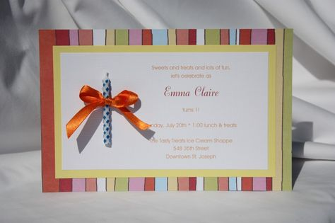Cute Hand Made Scrapbook Paper Invitation Also Primary Rh