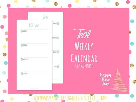 Stampabile Personal Calendario Settimanale di msvampireyukidesign
