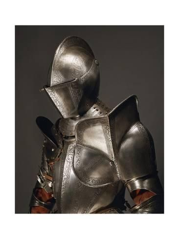 Giclee Print: Horse Tournament Armor in Steel Decorated with Engravings, Made in England, Circa 1560, Italy : 24x18in