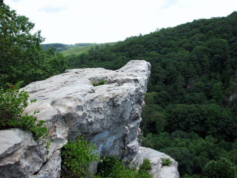 4. Rocks State Park, Harford County, MD. Rocks State Park has 855 acres of dense forests and massive boulders rising above Deer Creek. The King and Queen Seat, once a ceremonial gathering place of the Susquehannock Indians, is a natural 190 foot rock outcrop. This cliff, reached by scenic trails, affords a view of the rolling hills and farmland of Harford County.