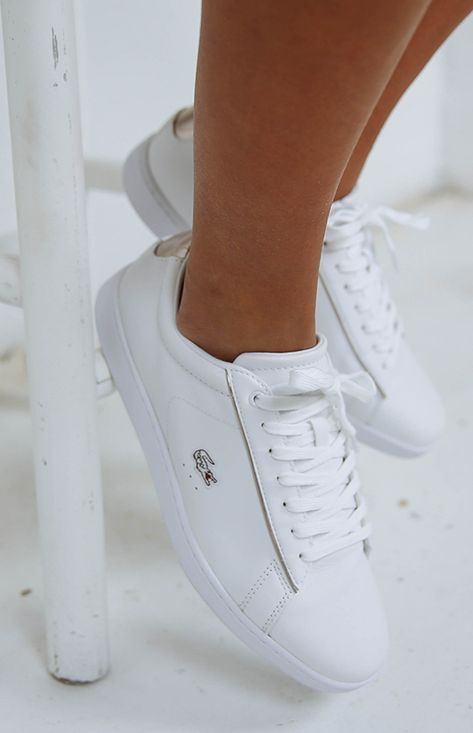 80a7fcb9df7 Lacoste Carnaby EVO 316 1 Sneaker - White Leather from peppermayo ...