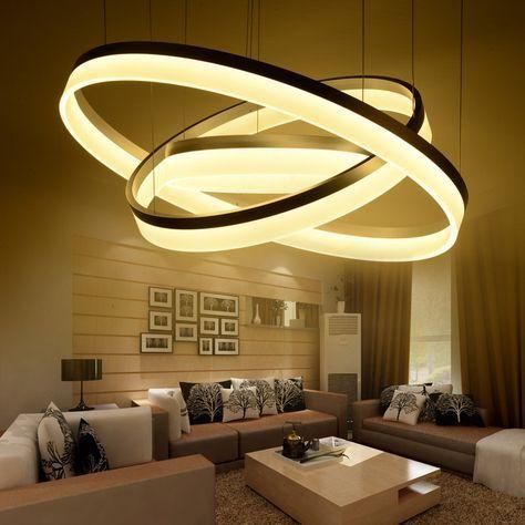 Pas Cher Moderne Led Salon Salle A Manger Lampes Suspendues Suspension Luminaire Eclairage Du Salon Decoration Interieure Luxe Lustre Salle A Manger