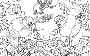 Hulk Vs Red Hulk Lego Coloring Pages Spiderman Coloring