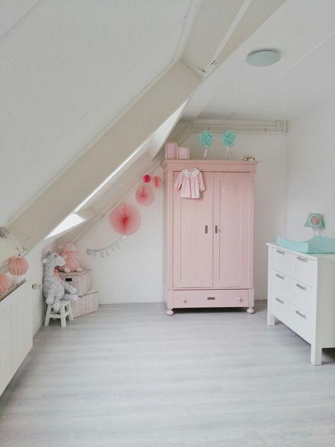 Babykamer Meisje Oud Roze Kast Antiekekast My Love Roze