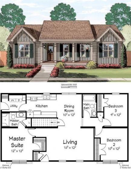 Super Kitchen Farmhouse Rustic Country Style Floors 54 Ideas Dream House Plans House Blueprints Family House Plans