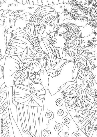 Fantasia Fantasy Romance Adult Coloring Designs Coloring