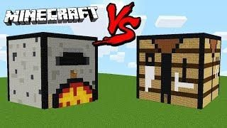 Casa Intr Un Furnal Vs Casa Intr Un Crafting Table Minecraft Crafting Table Minecraft Craft Table Minecraft Crafts
