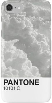 'Cloud Pantone' iPhone Case by Lucie Duah