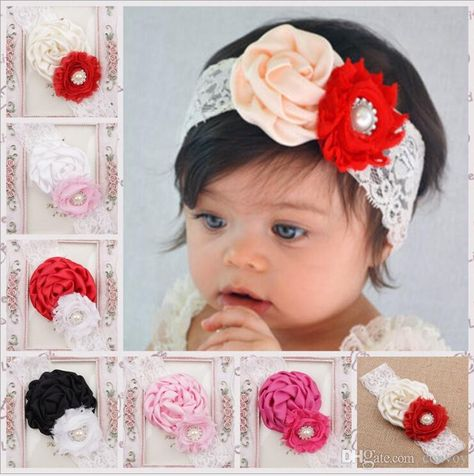 Lot Baby Girls Newborn Child Polyester Headbands Hair band Hair bow Bandeau MG07