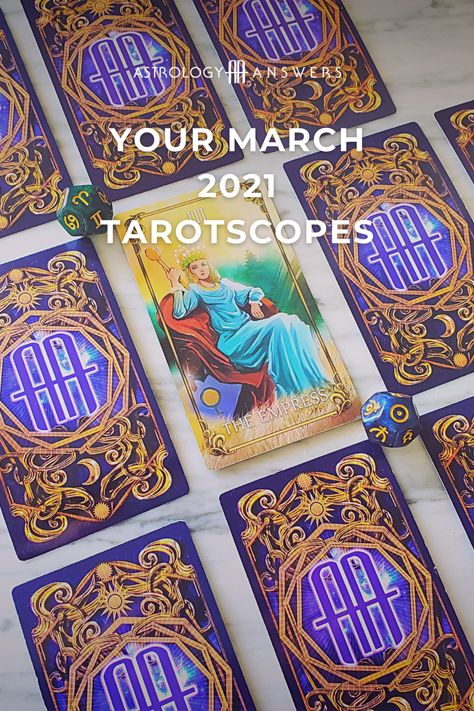 What's in the cards for you in March 2021? ♓♈ Let's check in with your monthly Tarotscope drawn by one of our Tarot experts. #tarotscopes #marchtarotscopes #marchtarot #tarotreading #tarotpredictions #astrologyanswers