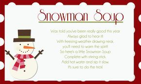 graphic relating to Snowman Soup Poem Printable called Pinterest Пинтерест