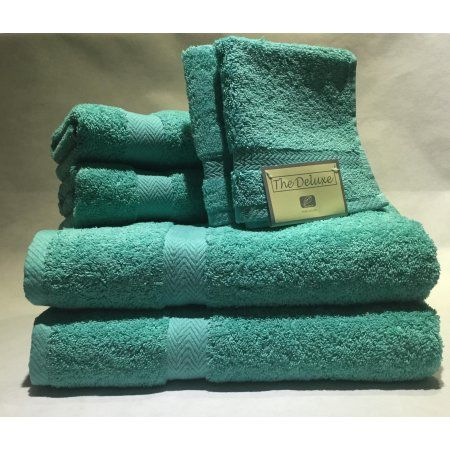 Bath Towels At Walmart Extraordinary Deluxe Basics 6Piece Solid Luxury Towel Set  Towels Walmart And 2018