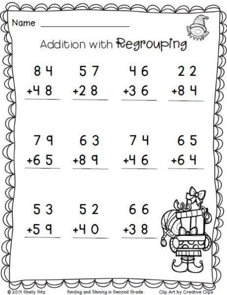 2nd Grade Math Worksheets Addition 2nd Grade Math 2nd Grade