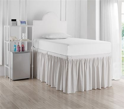 Dorm Sized Bed Skirt Panel With Ties Jet Stream Dorm Bed Skirts Bedskirt Dorm Bedding Twin Xl