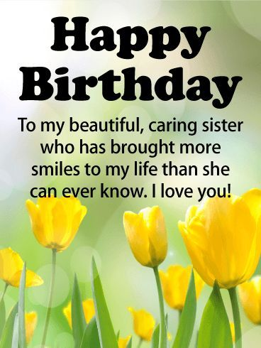 Happy Birthday Wishes For Sister Happy Birthday Sis Happy Birthday Wishes Cards Birthday Wishes For Sister