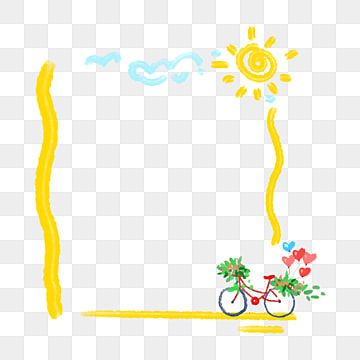 Yellow Bicycle Border Yellow Border Sun Border Bicycle Border Png Transparent Clipart Image And Psd File For Free Download Clip Art Clip Art Borders Colorful Backgrounds