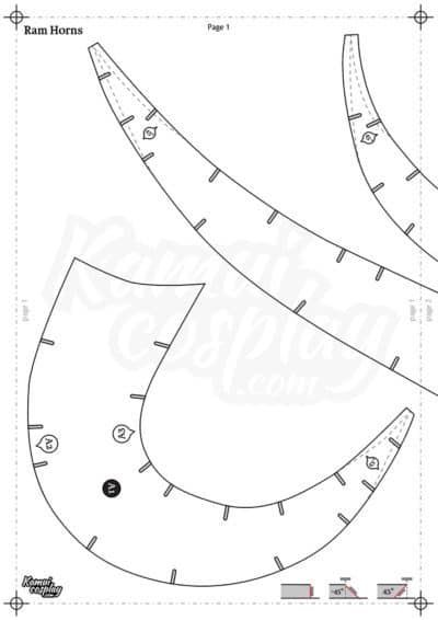 Foam Horn Pattern Collection Download Pdf Cosplay