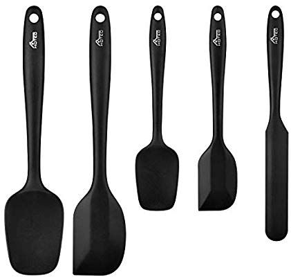 Amazon Com Hotec 5 Pieces Silicone Spatula Set Kitchen Utensils For Baking Cooking And Mixing Heat Resistant Non