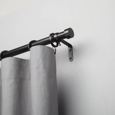 Single Curtain Rod And Hardware Set Single Curtain Rods Curtain