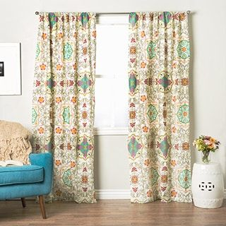 Greenland Home Fashions Astoria Curtain Panel Pair 95 Inches