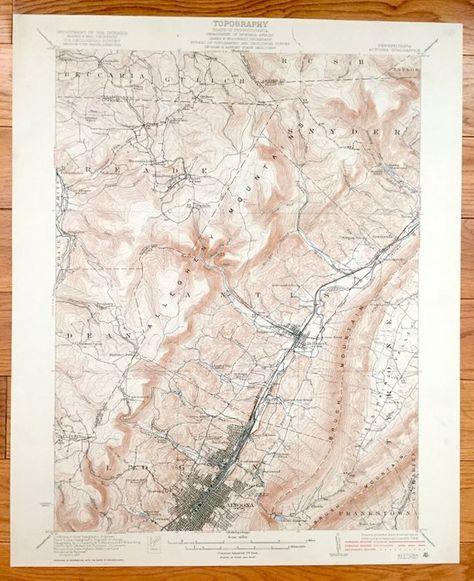 Antique Altoona, Pennsylvania 1922 US Geological Survey ... on map of pocono mountains pa, map of endless mountains pa, map of pocono mountain area,