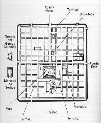 Resultado de imagen de plano ciudad romana