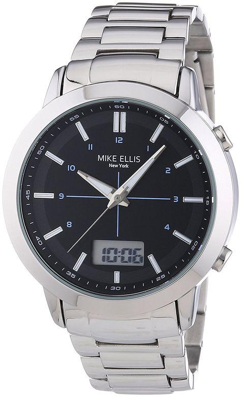 Mike Ellis New York Men's Wristwatch Analog XL - Quartz Digital Stainless Steel