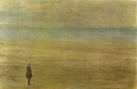Whistler, Harmony in Blue and Silver: Trouville, 1865, Oil on canvas.