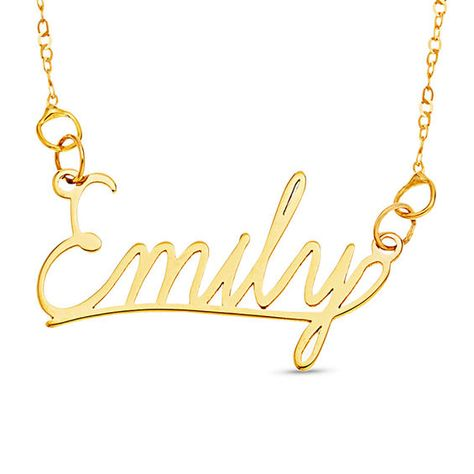 Cursive Name Necklace In 10k Gold 1 Line 16 Blue Sapphire Necklace Name Necklace Ruby Diamond Necklace