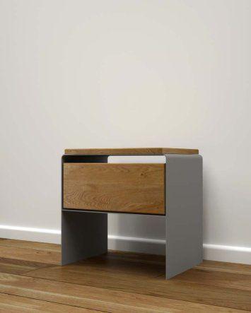 Nachttisch Holz Modern Schwarz Mystery Design Mobel Online
