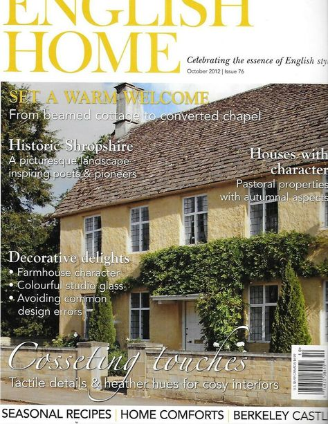 The English Home Magazine Converted Chapel Cottage Houses With Character 2012 In 2020 With Images English House House And Home Magazine Cottage