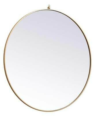 Details About 45 In Round Mirror With Decorative Hook In Brass Finish Id 4001507 In 2020 Round Mirrors Decorative Hooks Mirror
