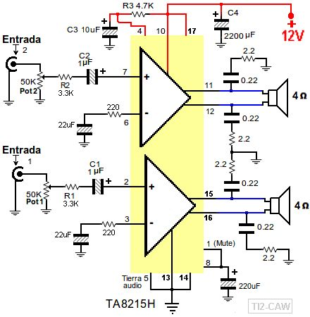 Ta8215l схема усилителя
