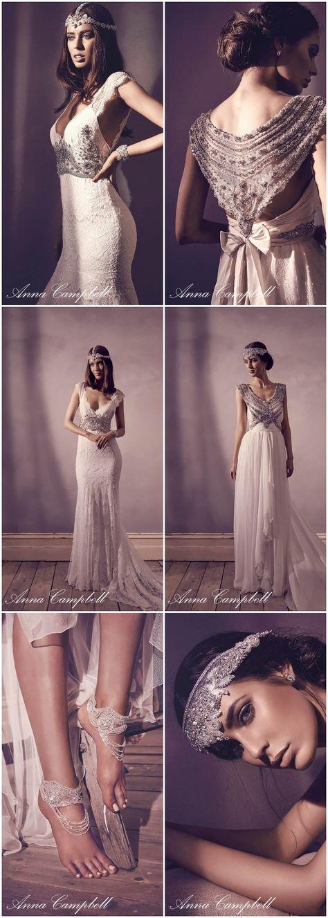 Asombroso Vestido De Novia Anna Campbell Utilizado Fotos - Vestido ...