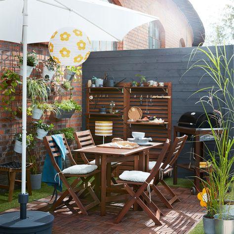 Balkon Garten Ideen Inspirationen Aussenmobel Wandpaneele