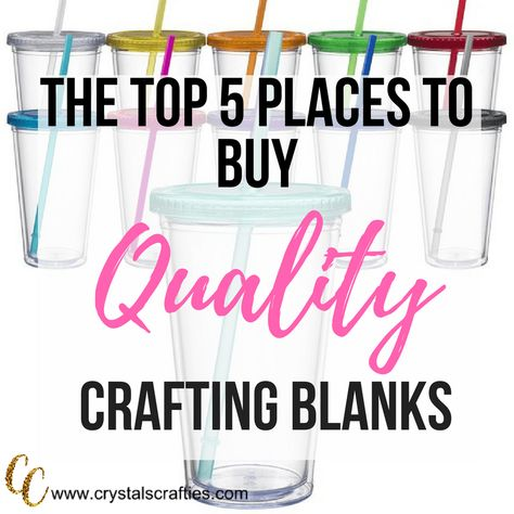 Top 5 places to buy quality crafting blanks