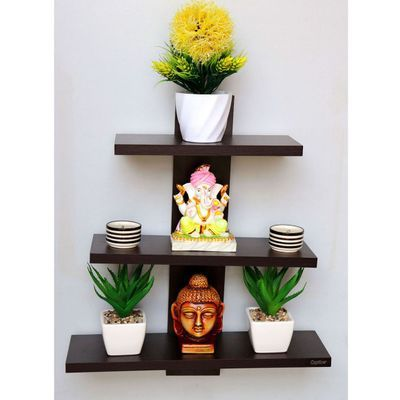 Buy Captiver Batten Organisers Set Of 3 Wenge Online At Low Prices In India Paytmmall Com Wall Shelf Decor Wall Shelves Living Room Wall Shelves Design