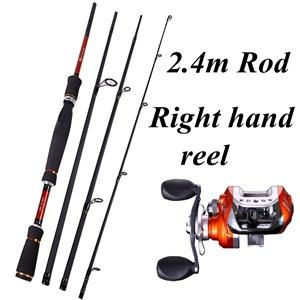 Sougayilang 4 Sections Fishing Rod Spinning 2.1M 2.4M 2.7M