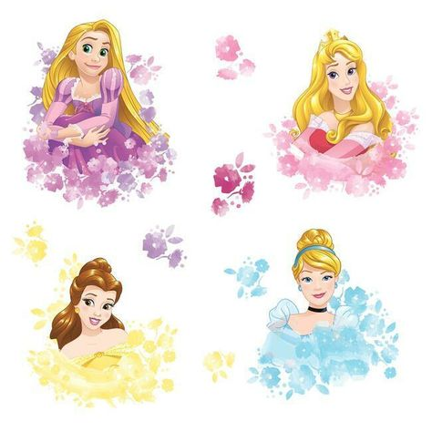 Disney Princess Floral Peel and Stick Wall Decals