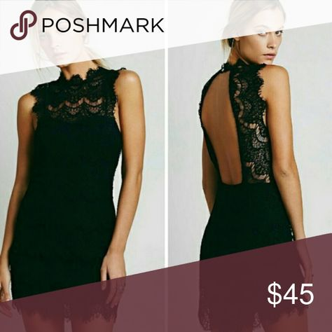 2997a6eaa6 FREE PEOPLE Black Lace Daydream Dress Small NEW WITH TAGS Size Small Black  Lace 60% Cotton 40% Nylon Free people exclusive Bodycon French lace slip  with a ...