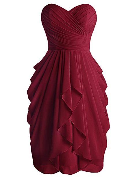 603cddf06e1 Dressystar Robe de demoiselle d honneur soirée bal courte