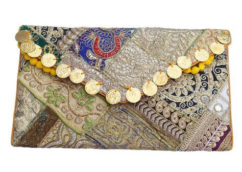 33768597b0 Vinatge tribal gypsy banjara bags, Trendy Clutch, Designer Clutch handbag,  Sling Ethnic Purse, Boho Clutch, handmade Bohemian Clutch on Vedindia, ...