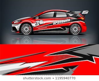 Racing Car decal wrap design  Graphic abstract livery