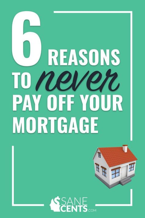 6 Reasons Why You Shouldn't Pay Off Your Mortgage Early