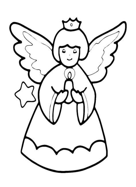 bildergebnis für malvorlagen engel  Рождественские