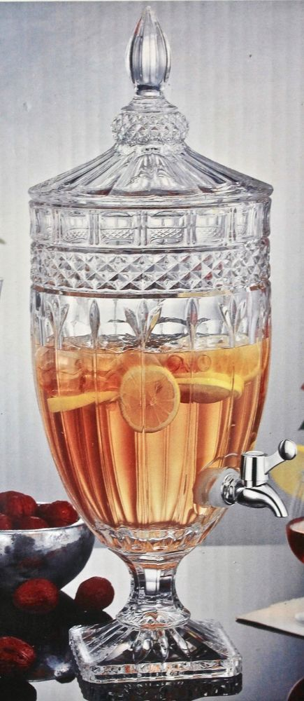 Shannon Crystal By Godinger Brandon Crystal Beverage Dispenser 1