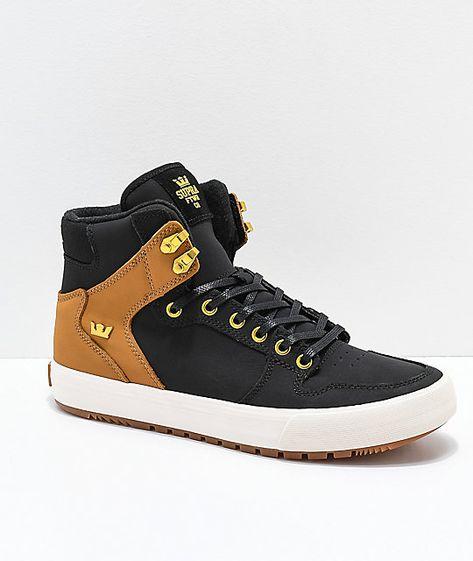 8f3ec220fbb Supra Vaider CW Black   Tan Skate Shoes