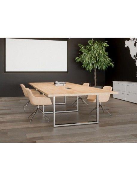 Table De Reunion Rectangulaire Prestige En 2020 Table De Reunion Table Bureau Direction
